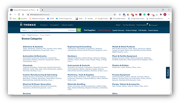 Product and Service Categories